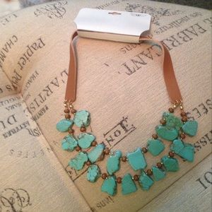NWT Chunky Turquoise Necklace